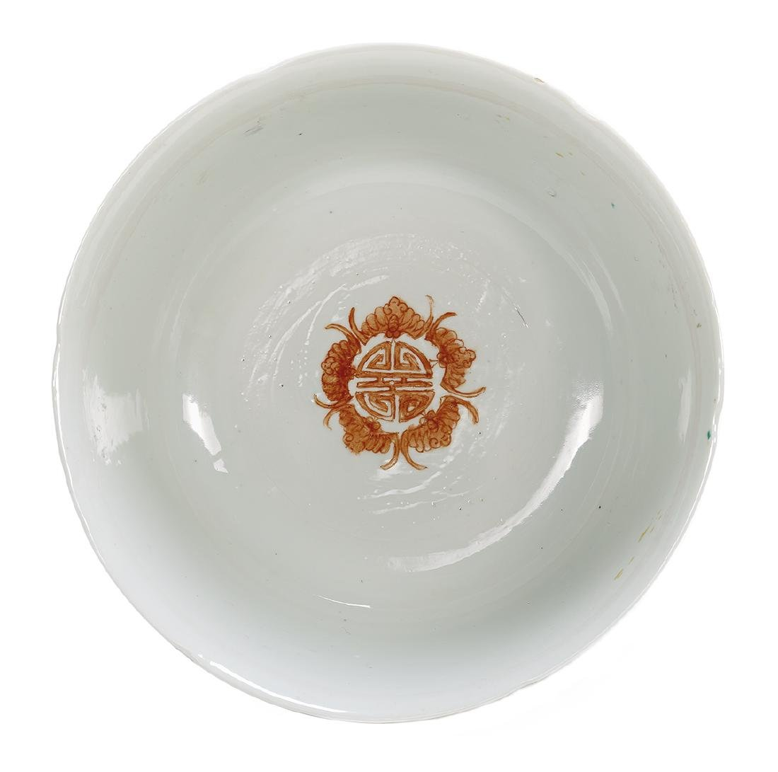 "Chinese Enameled Porcelain ""Millefleur"" Bowl - 2"