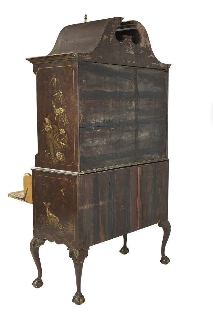 George III-Style Polychrome Secretary Highboy - 3