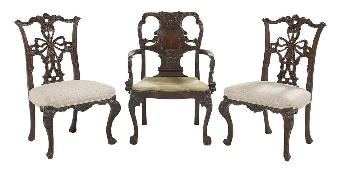 Group of Three George III-Style Mahogany Chairs