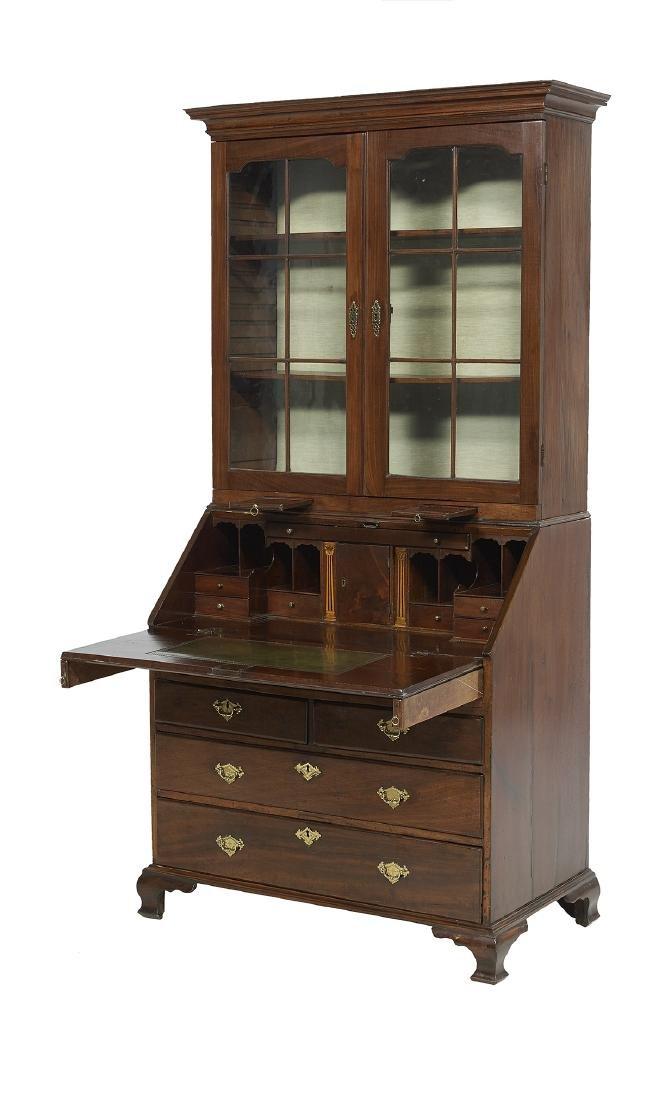 George III Mahogany Secretary Bookcase - 2