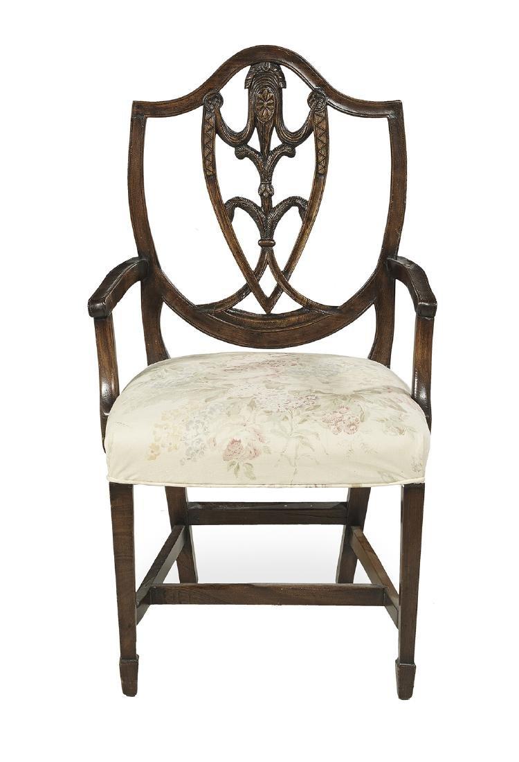 Eight George III-Style Mahogany Dining Chairs - 2