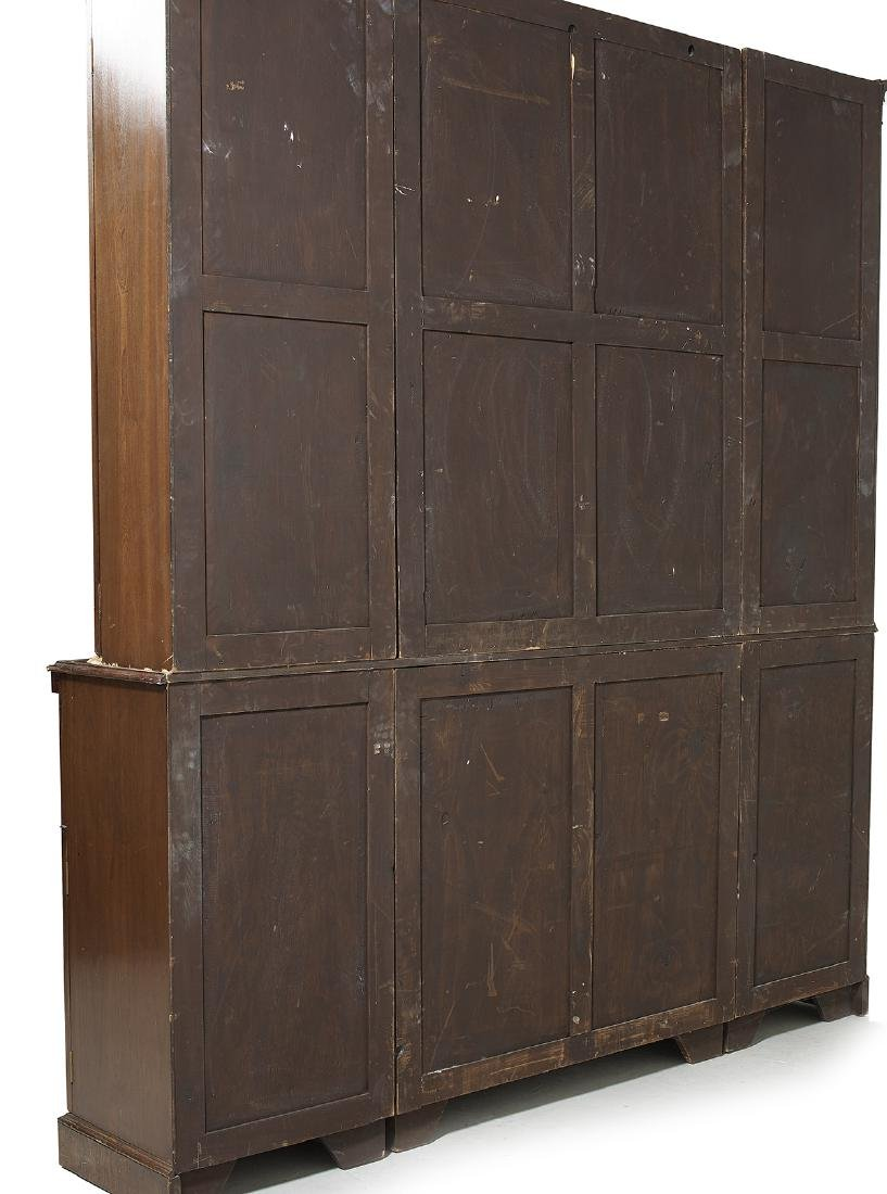 George III-Style Mahogany Breakfront Bookcase - 2