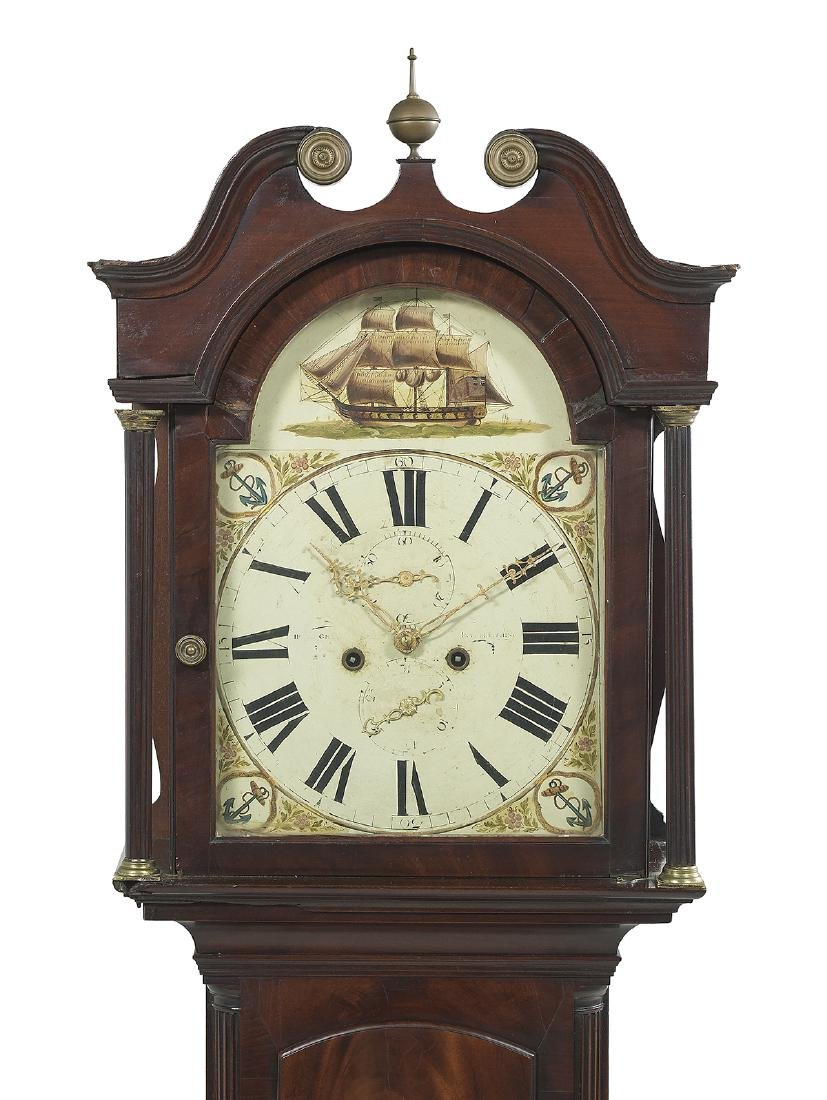 George III Mahogany Tall Case Clock - 2
