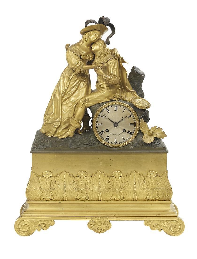 Two French Bronze Figural Mantel Clocks - 3
