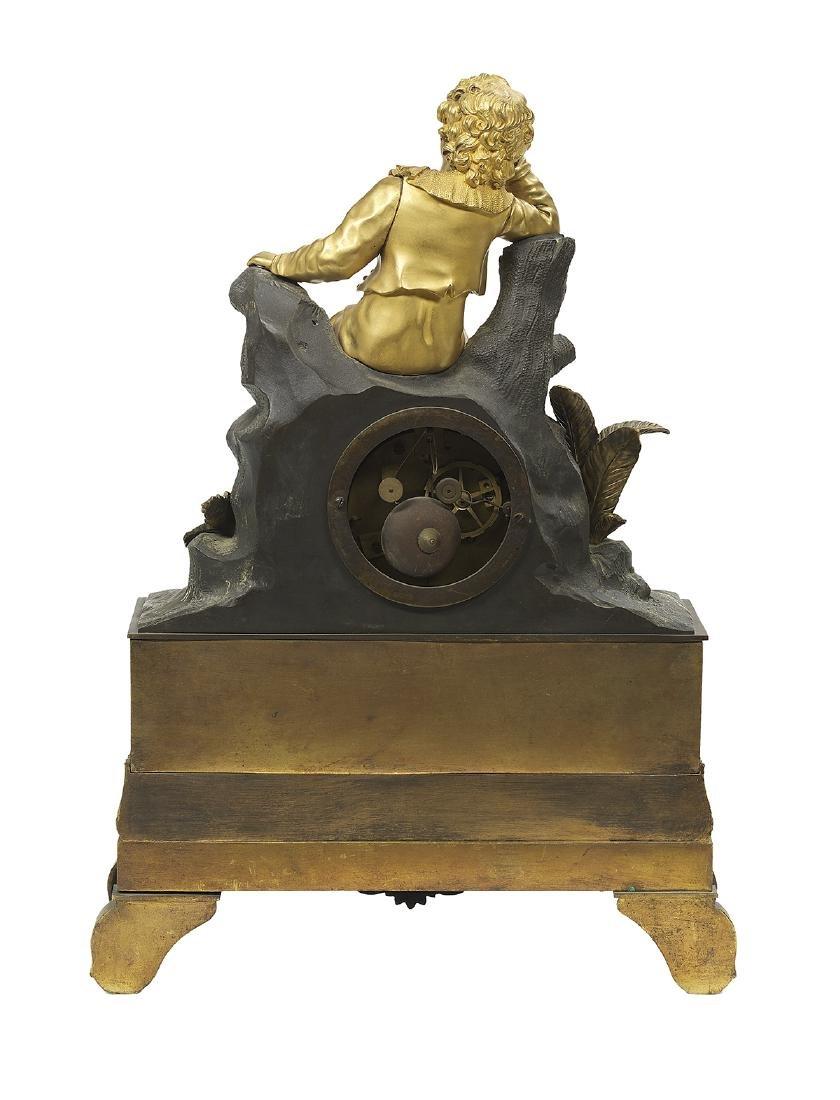 Two French Bronze Figural Mantel Clocks - 4