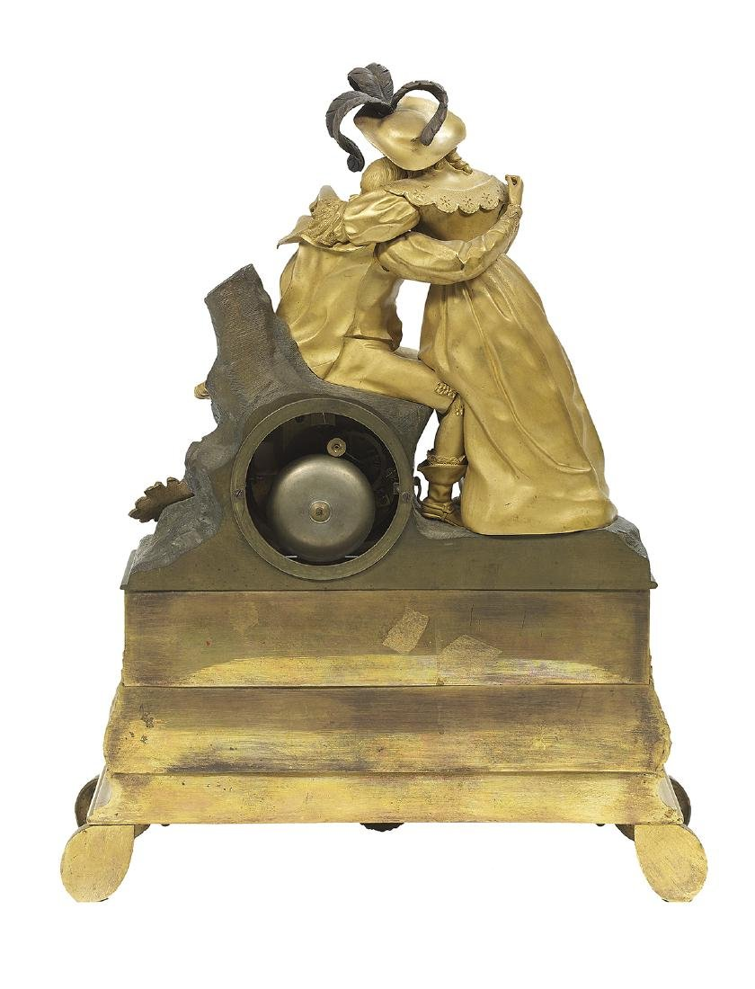Two French Bronze Figural Mantel Clocks - 5