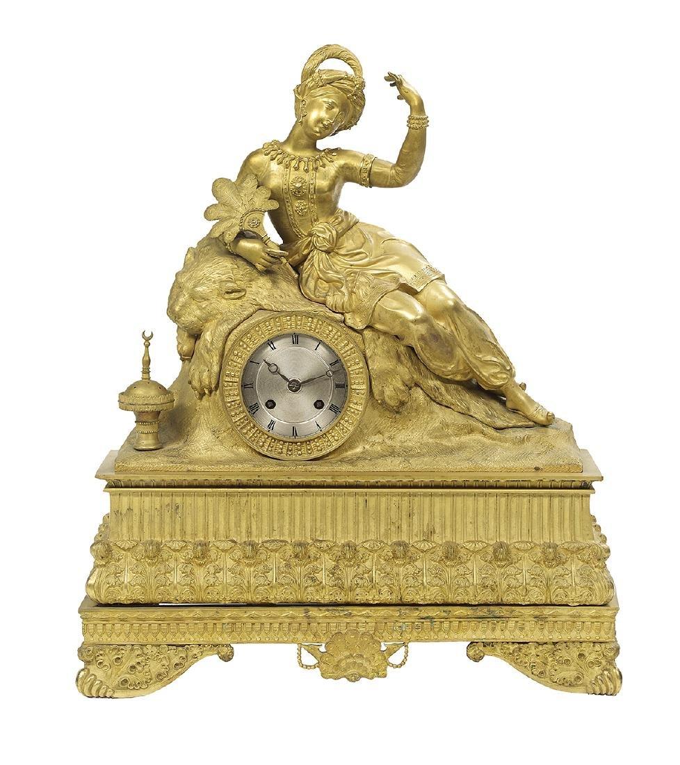 Louis-Philippe Gilt-Bronze Mantel Clock