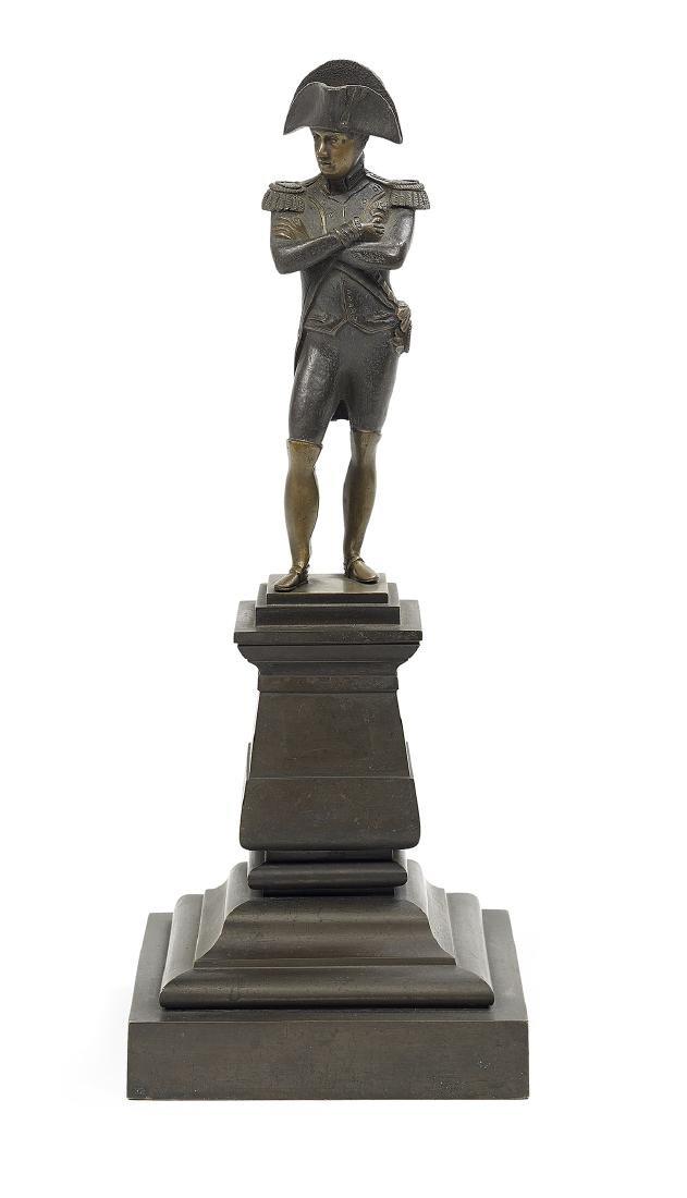 Rare Patinated Bronze Parlor Figure of Napoleon