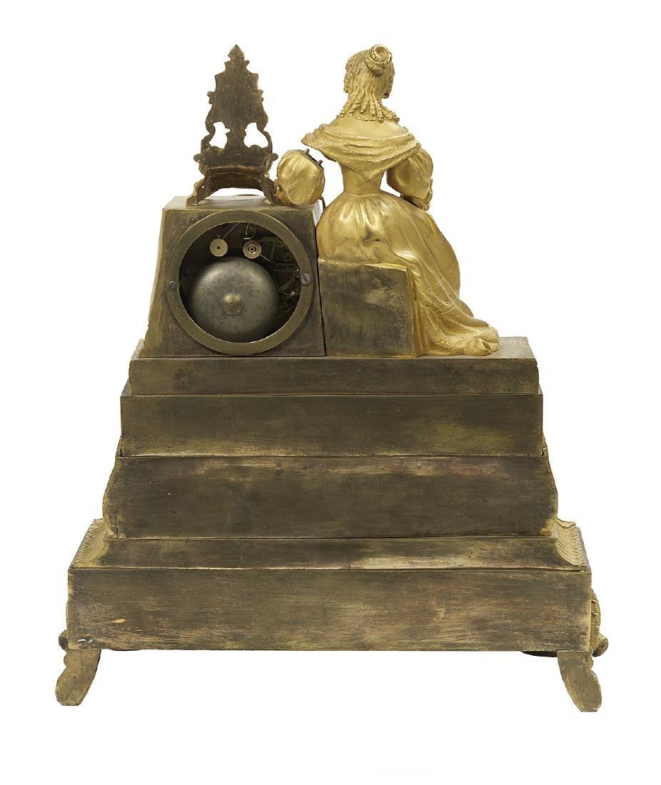 Louis-Philippe Gilt-Bronze Figural Mantel Clock - 2