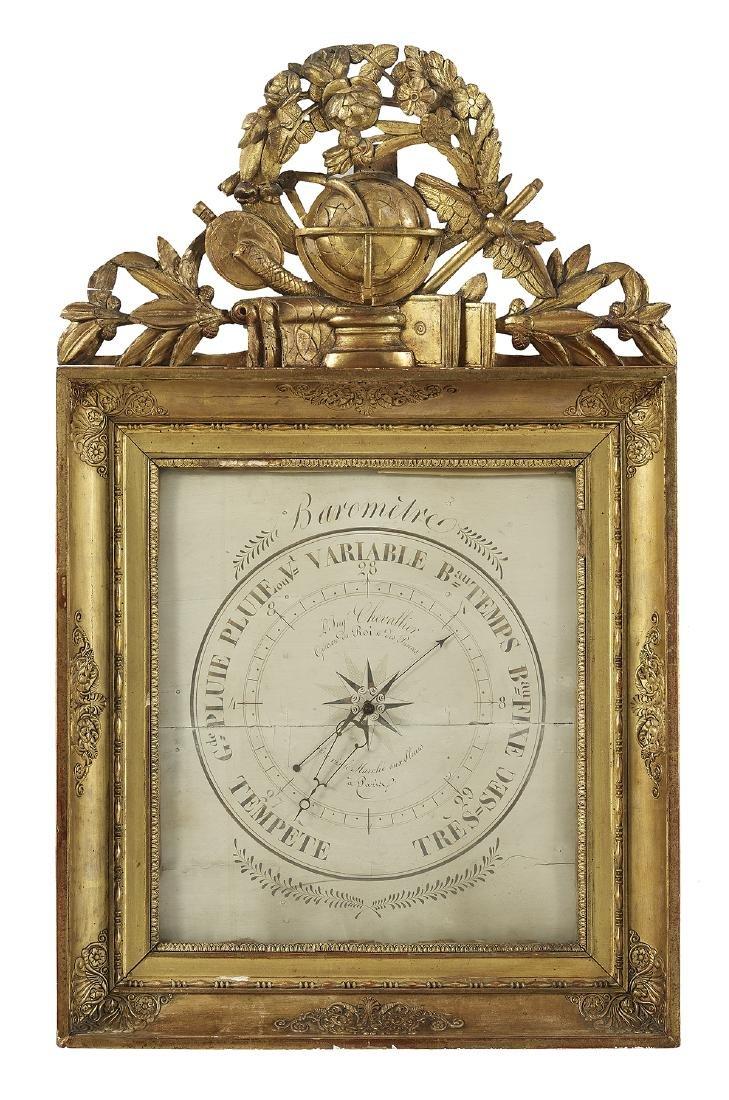 """Restauration Giltwood Barometer Sig. """"Chevallier"""""""