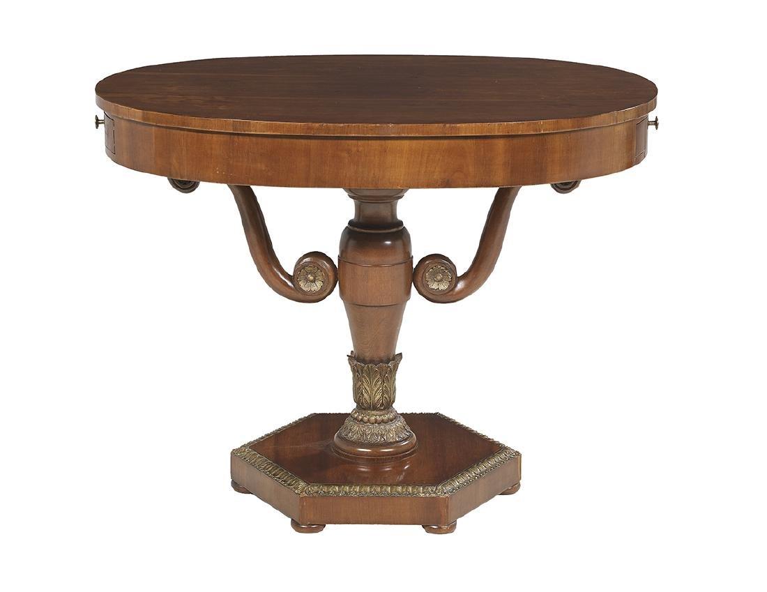 Charles X Mahogany Center Table