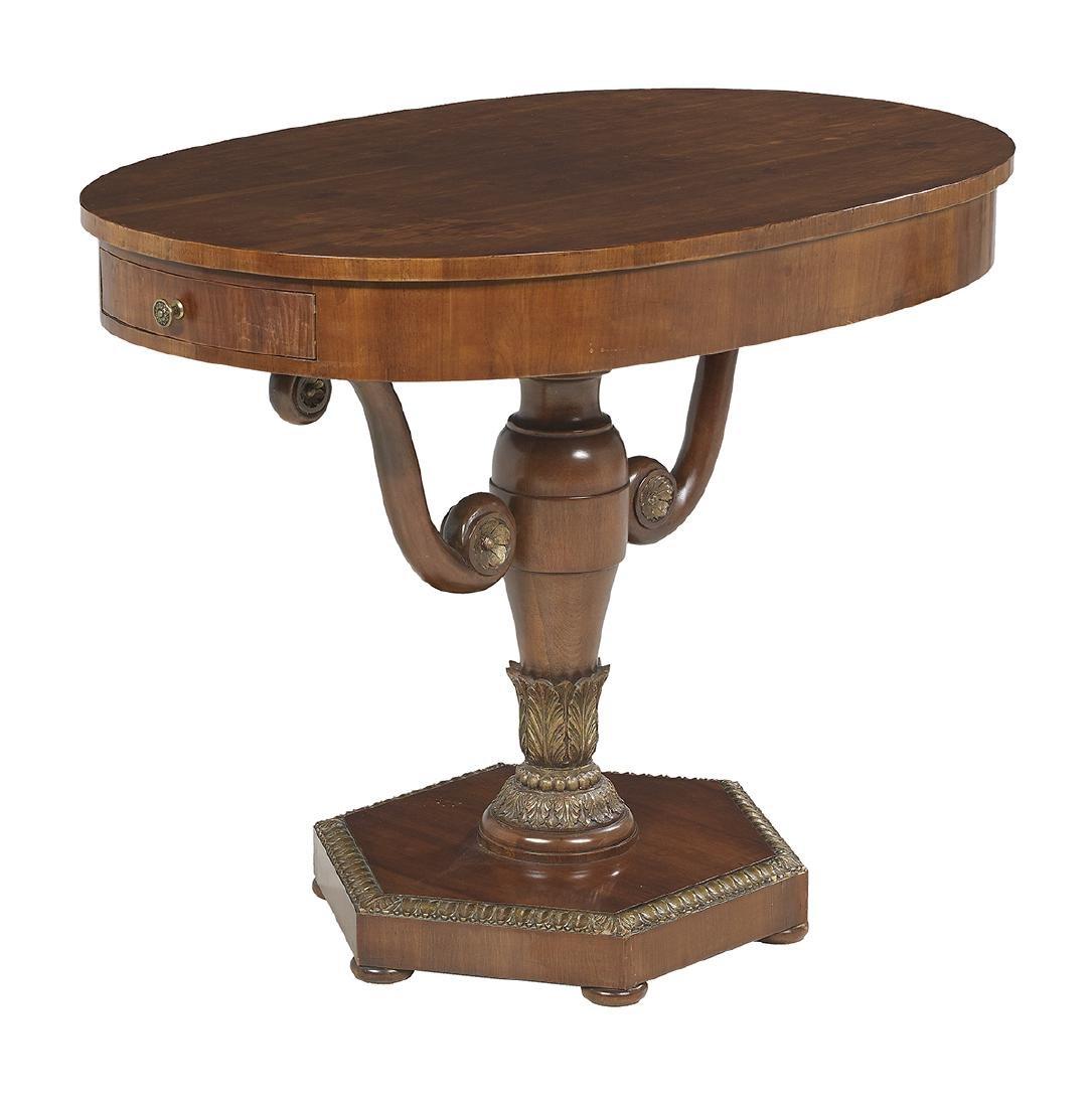 Charles X Mahogany Center Table - 2