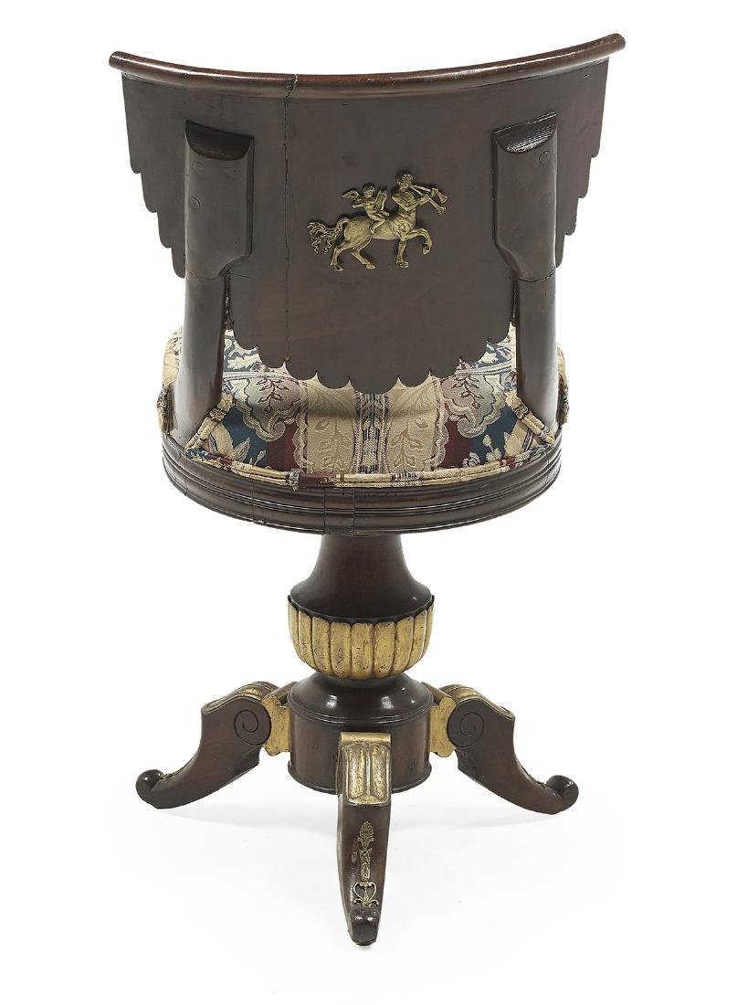 Empire Parcel-Gilt Mahogany Swivel Piano Chair - 2