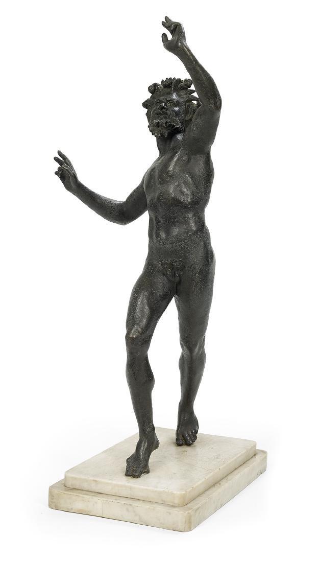 Italian Patinated Bronze of the Dancing Faun