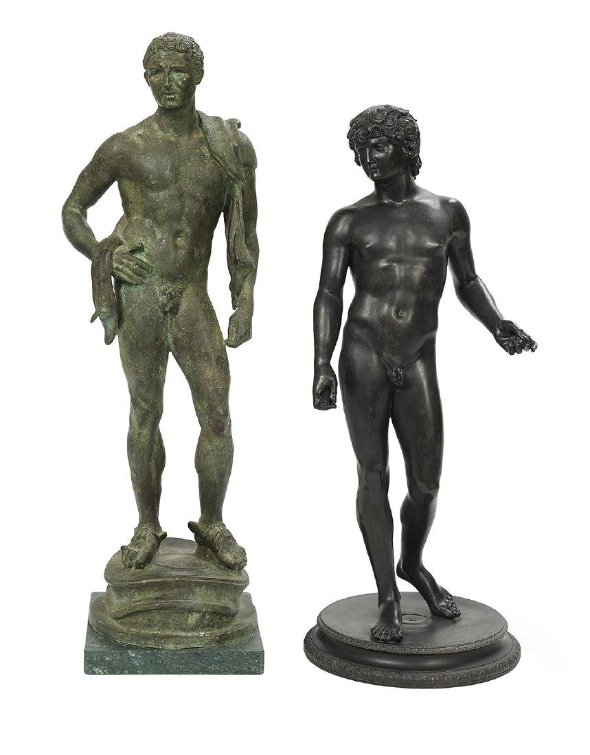 "Two Italian Bronzes of ""Hermes"" and ""Athlete"""