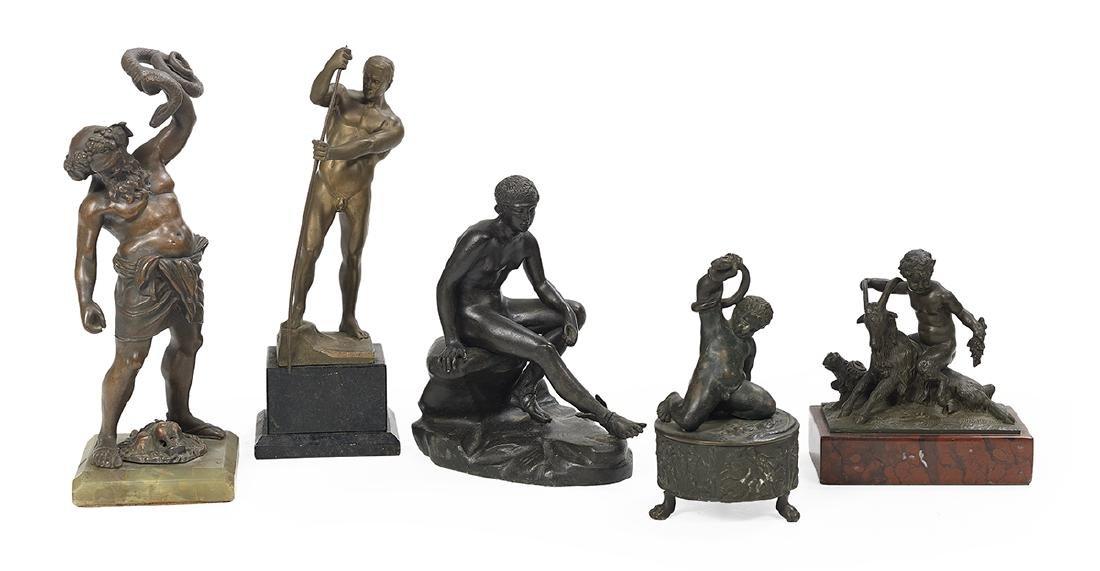 Collection of Five Grand Tour Souvenir Bronzes