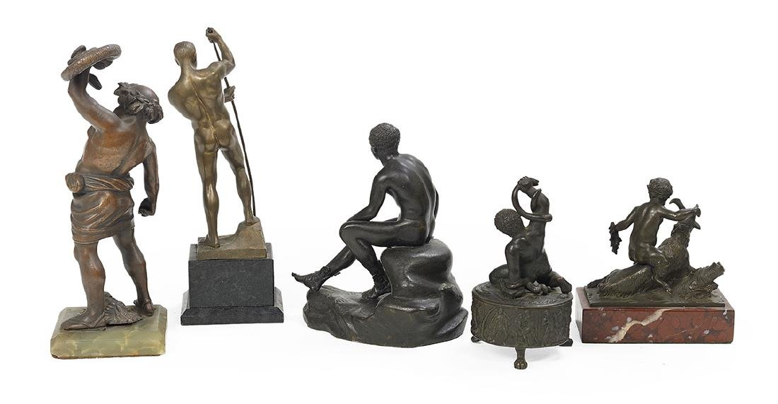Collection of Five Grand Tour Souvenir Bronzes - 2