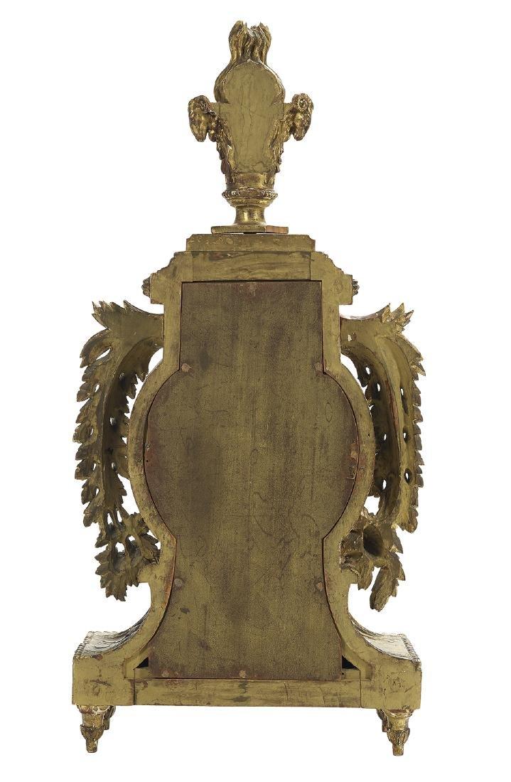 Italian Neoclassical Giltwood Mantel Clock - 2
