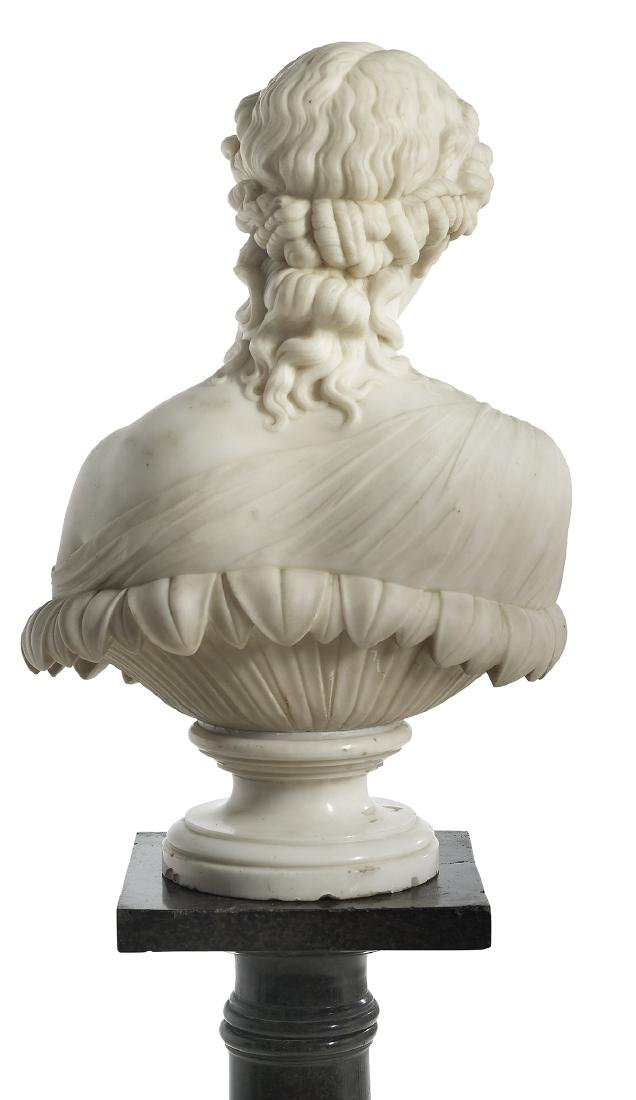 "Italian Carved Marble Bust of ""Clytie"" - 2"