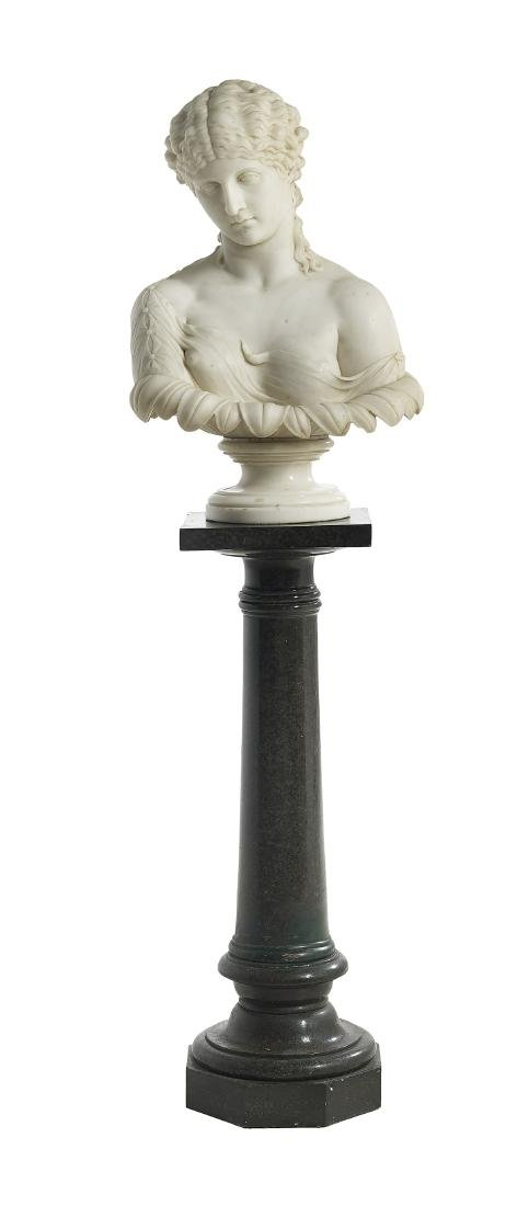 "Italian Carved Marble Bust of ""Clytie"" - 4"