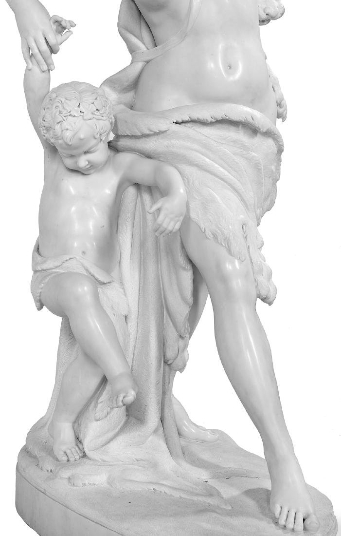Exceptional Carved Carrara Marble Figural Group - 3