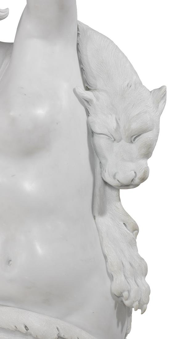 Exceptional Carved Carrara Marble Figural Group - 4