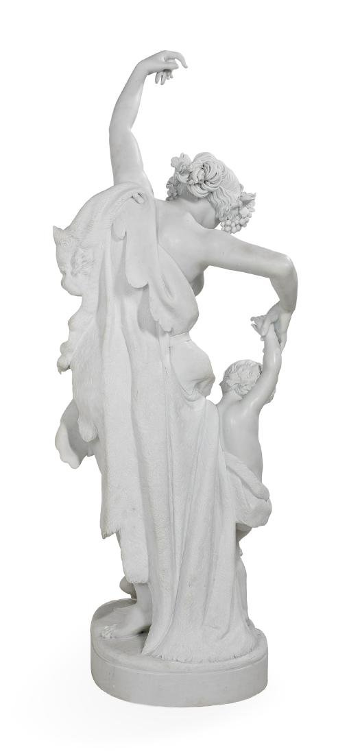 Exceptional Carved Carrara Marble Figural Group - 6