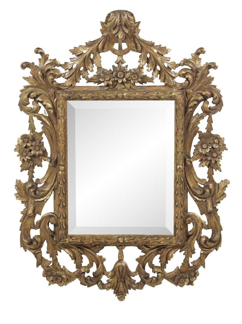 Italian Giltwood Mirror in the Baroque Taste