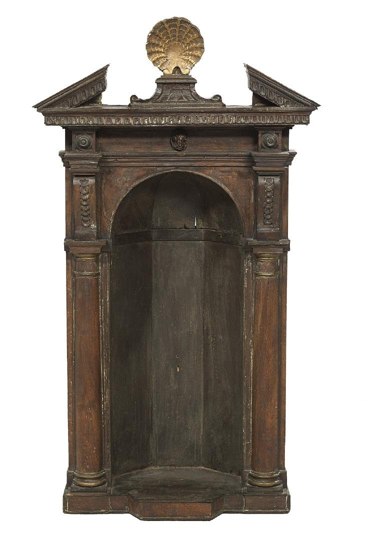 Italian Painted and Parcel-Gilt Tabernacle