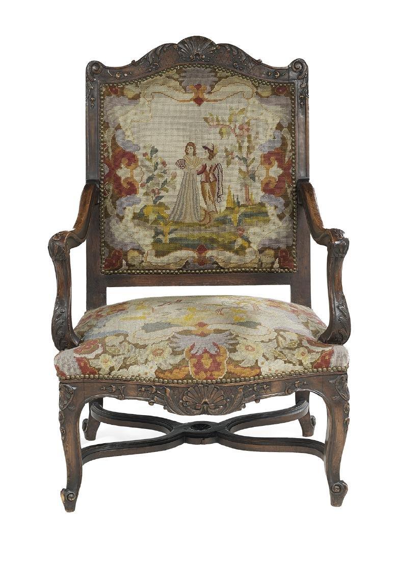 Louis XV/XVI-Style Fauteuil