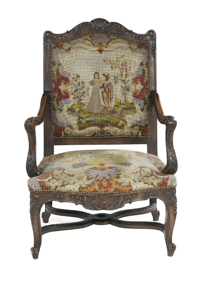 Louis XV/XVI-Style Fauteuil