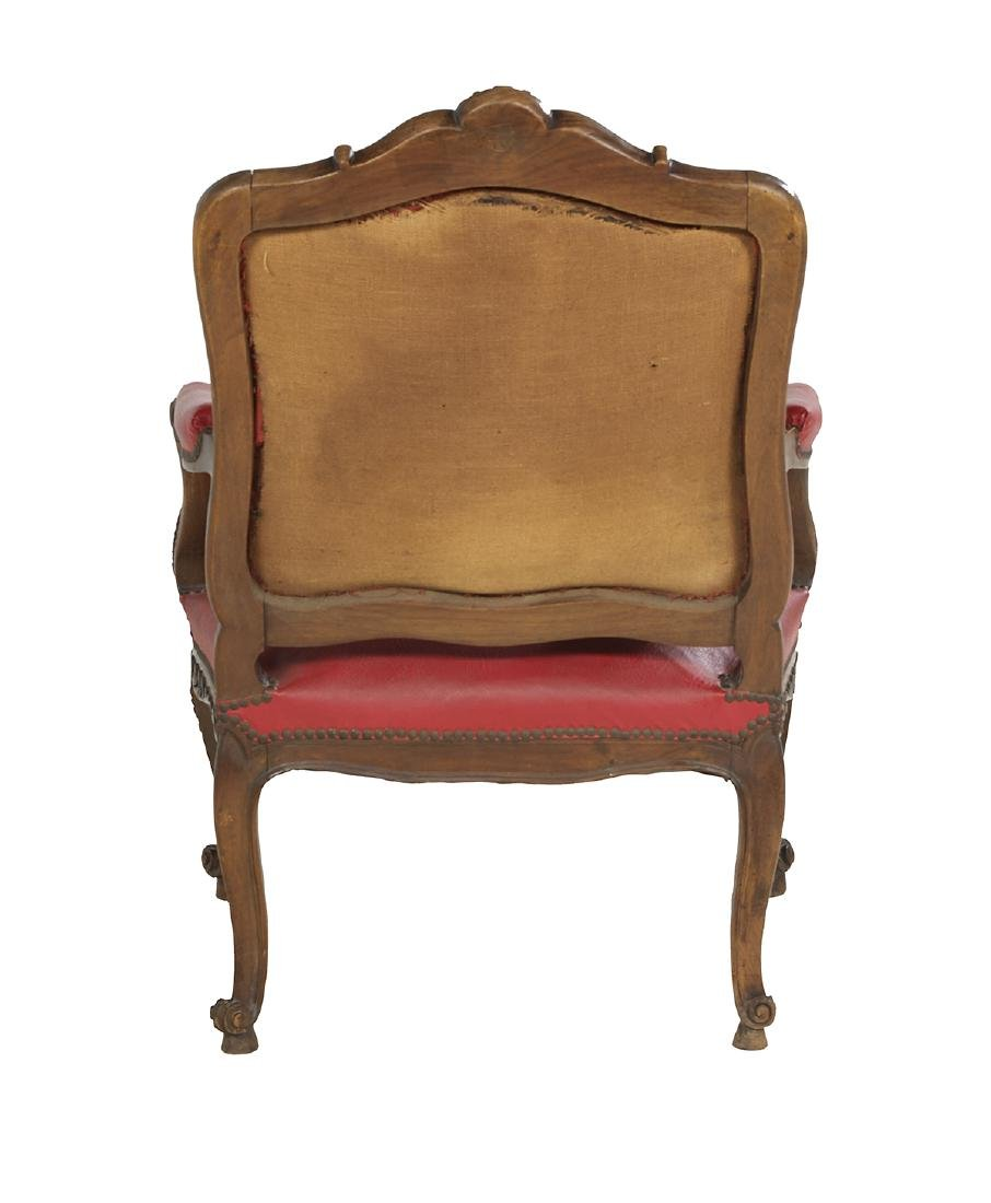 Louis XV-Style Fruitwood Fauteuil - 3