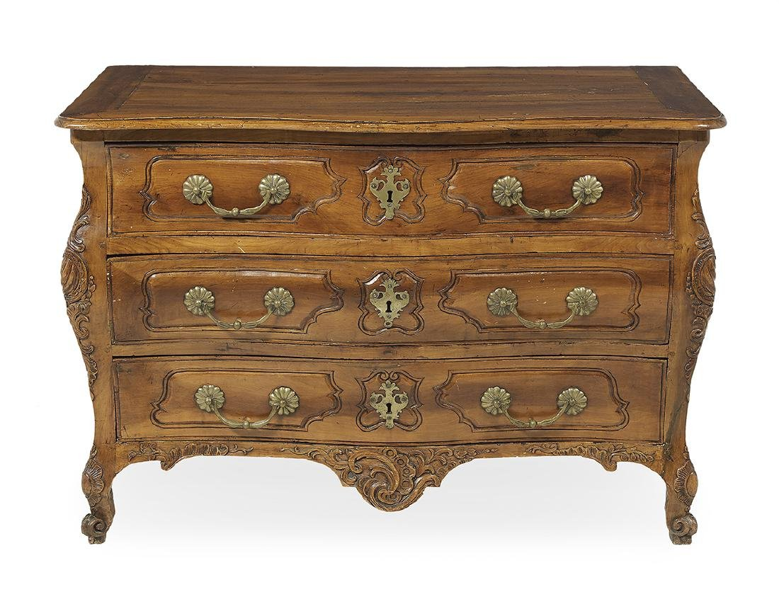 Provincial Regence Fruitwood Commode