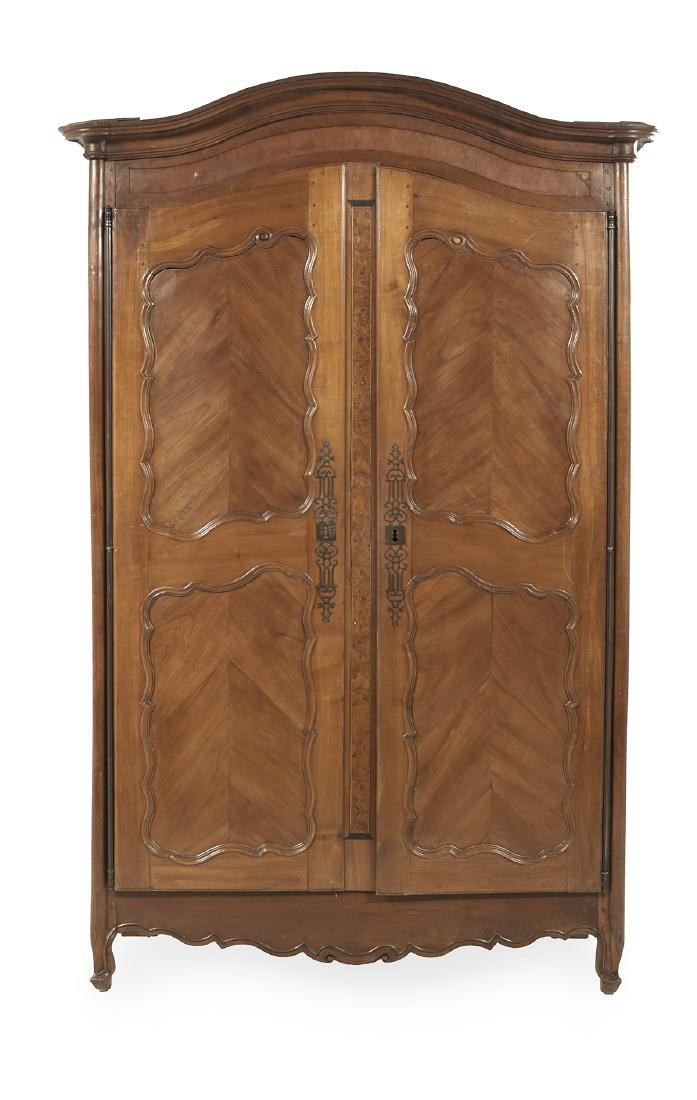 French Provincial Fruitwood Armoire
