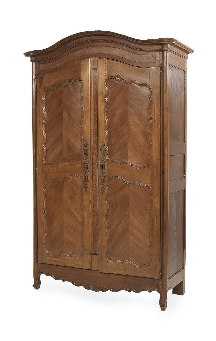 French Provincial Fruitwood Armoire - 2