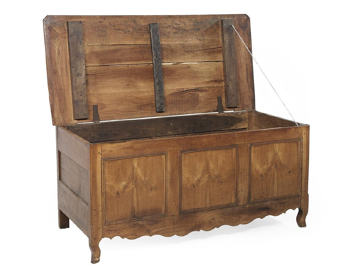 French Provincial Fruitwood Coffer - 3