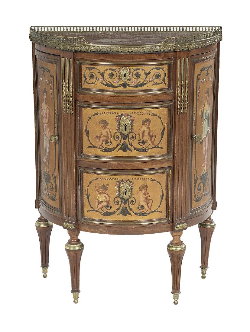 Belle Epoque Petite Marble-Top Side Cabinet