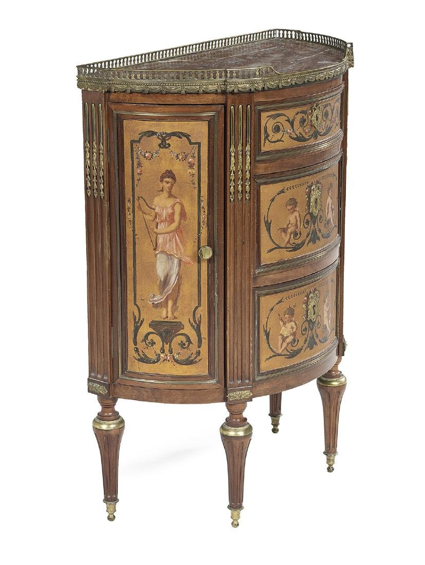 Belle Epoque Petite Marble-Top Side Cabinet - 2