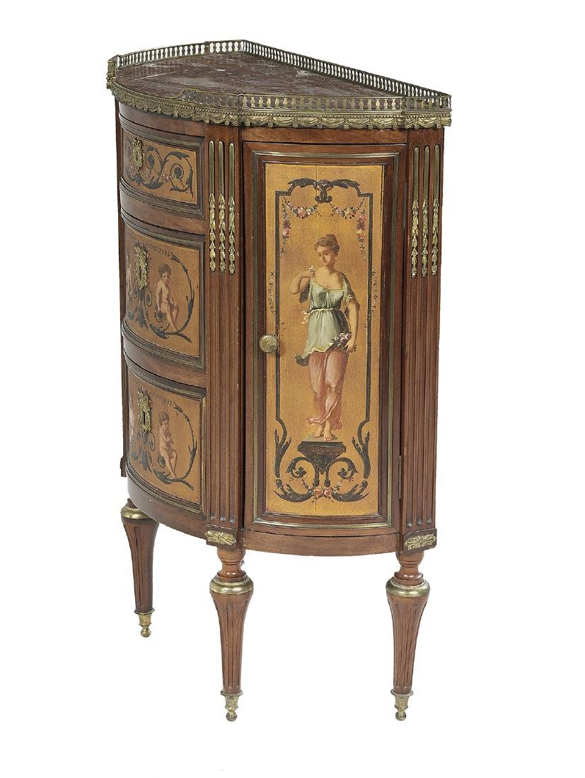 Belle Epoque Petite Marble-Top Side Cabinet - 3