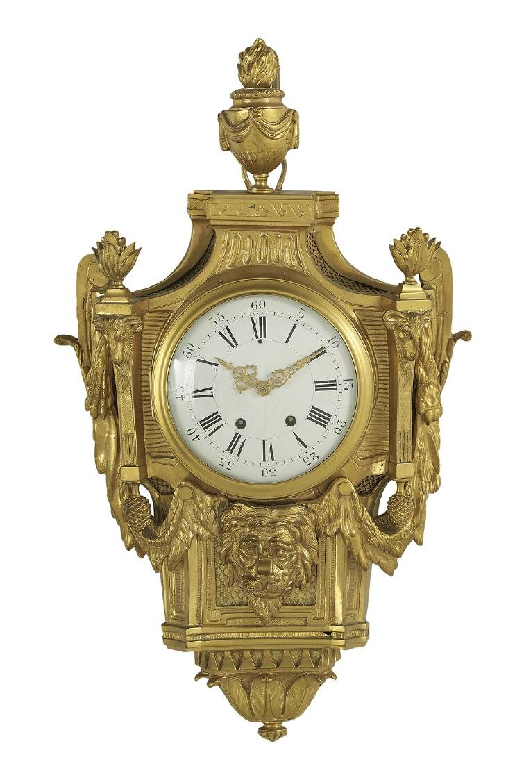 Louis XV-Style Gilt-Bronze Cartel Clock