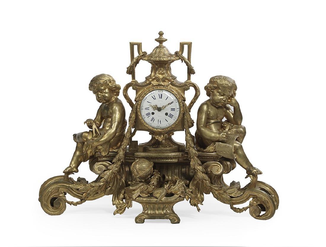 Impressive Gilded Age Bronze Clock
