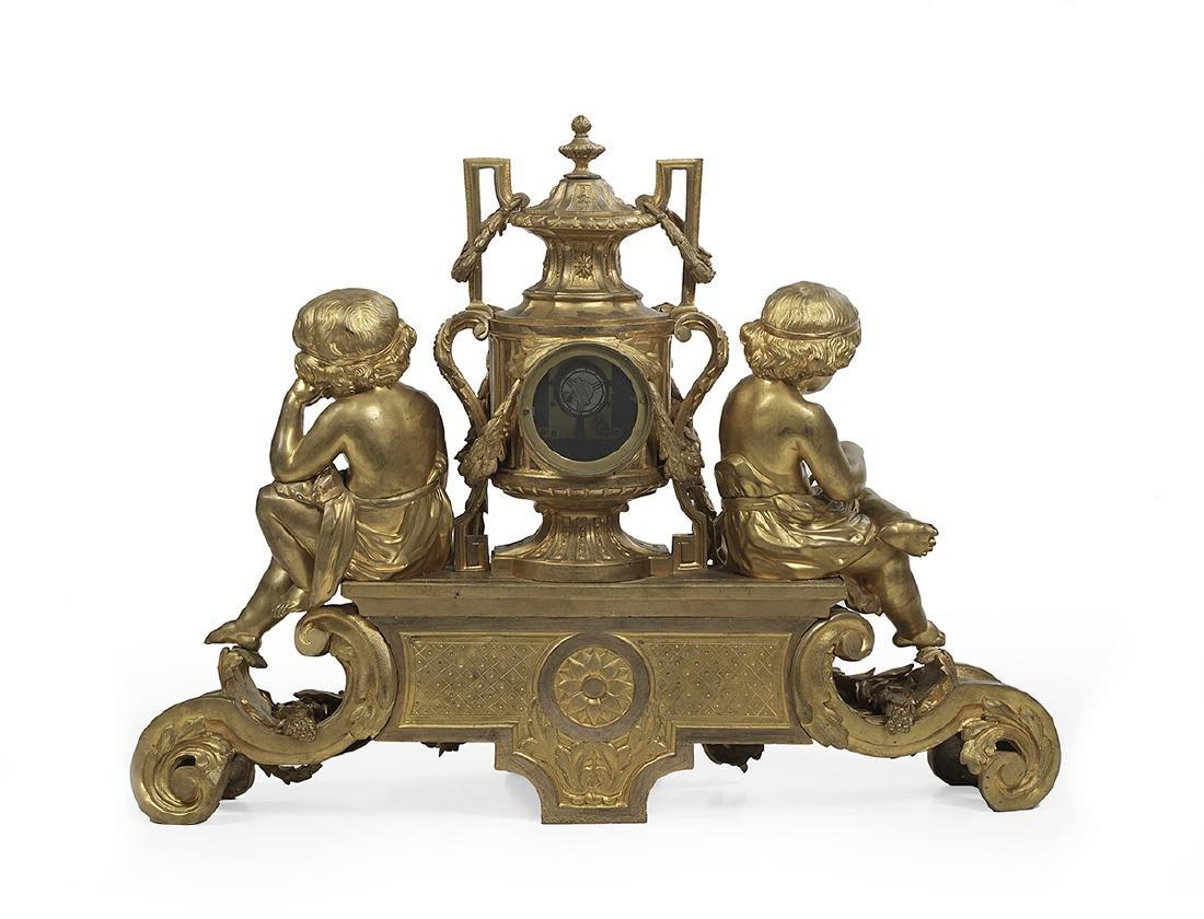Impressive Gilded Age Bronze Clock - 2