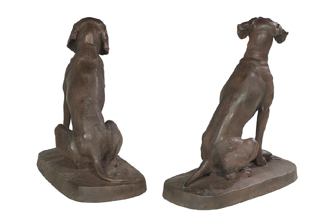 Pair of Cast Iron Retrievers - 2