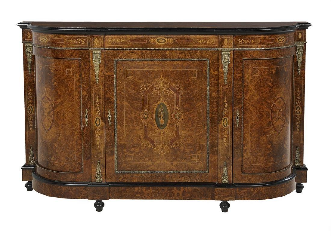 Napoleon III-Style Ebonized Parlor Cabinet
