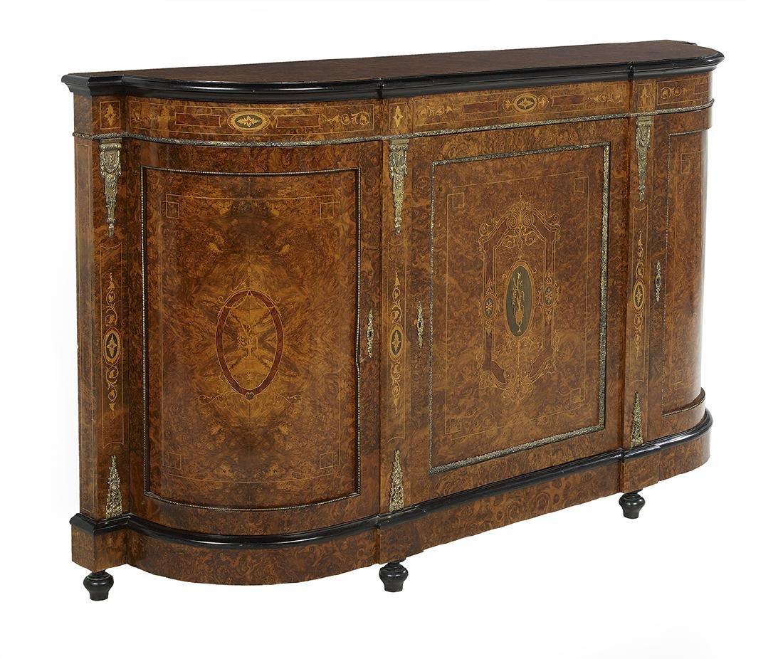 Napoleon III-Style Ebonized Parlor Cabinet - 2