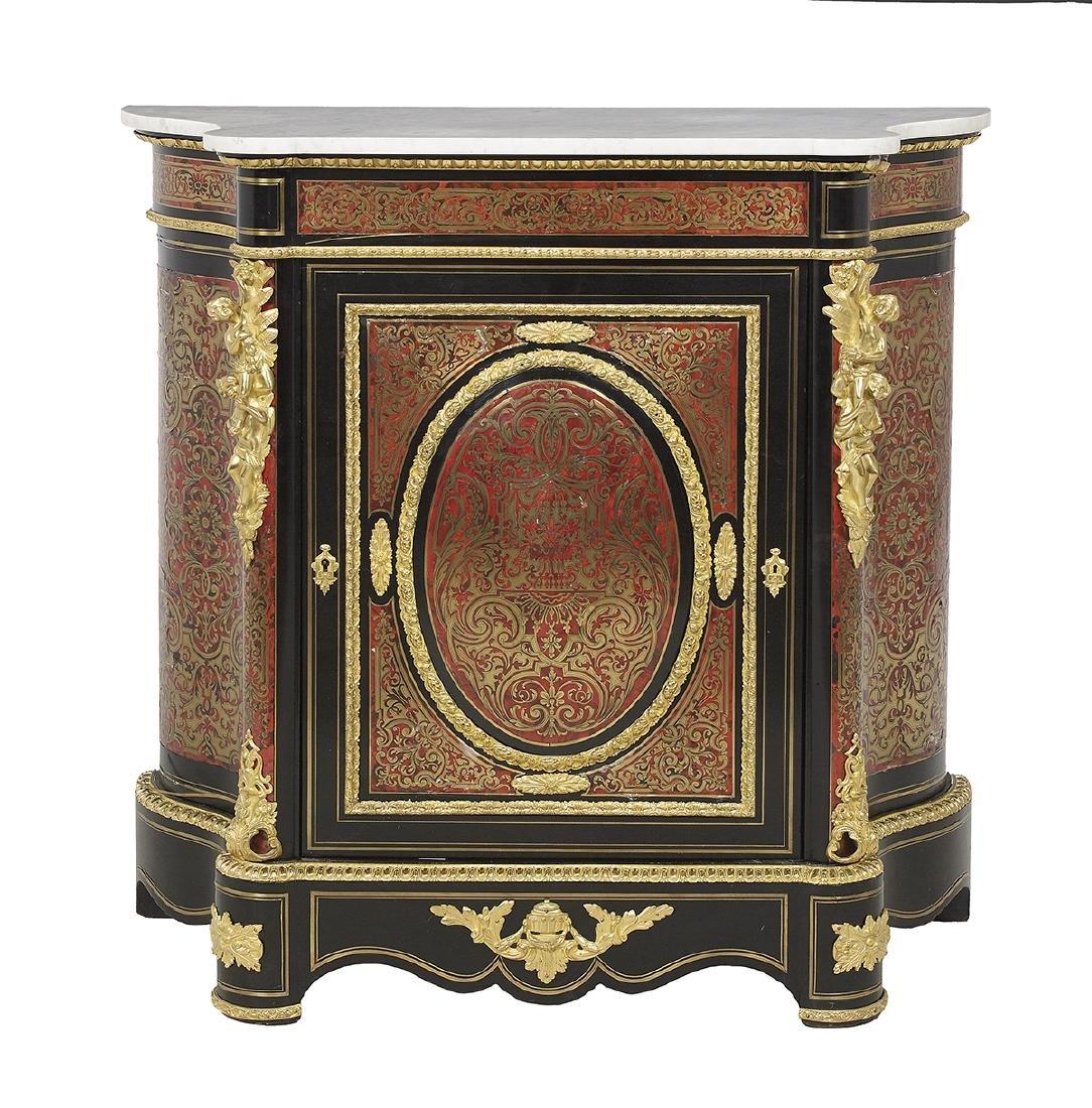 Napoleon III Ormolu-Mounted Marble-Top Cabinet