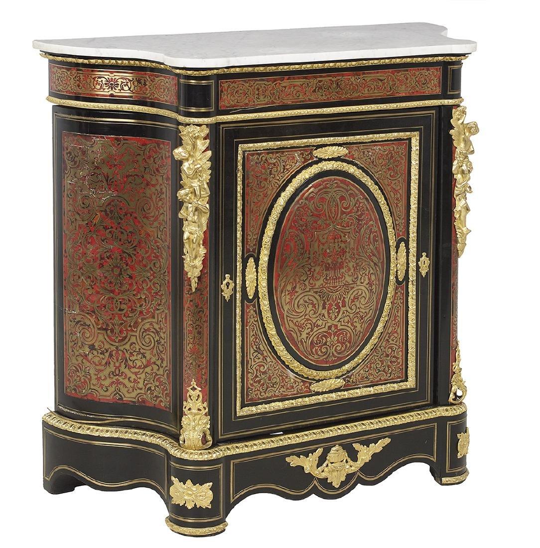 Napoleon III Ormolu-Mounted Marble-Top Cabinet - 2