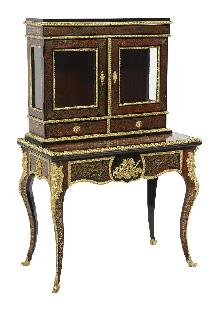 Napoleon III-Style Boulle and Ebonized Desk - 2