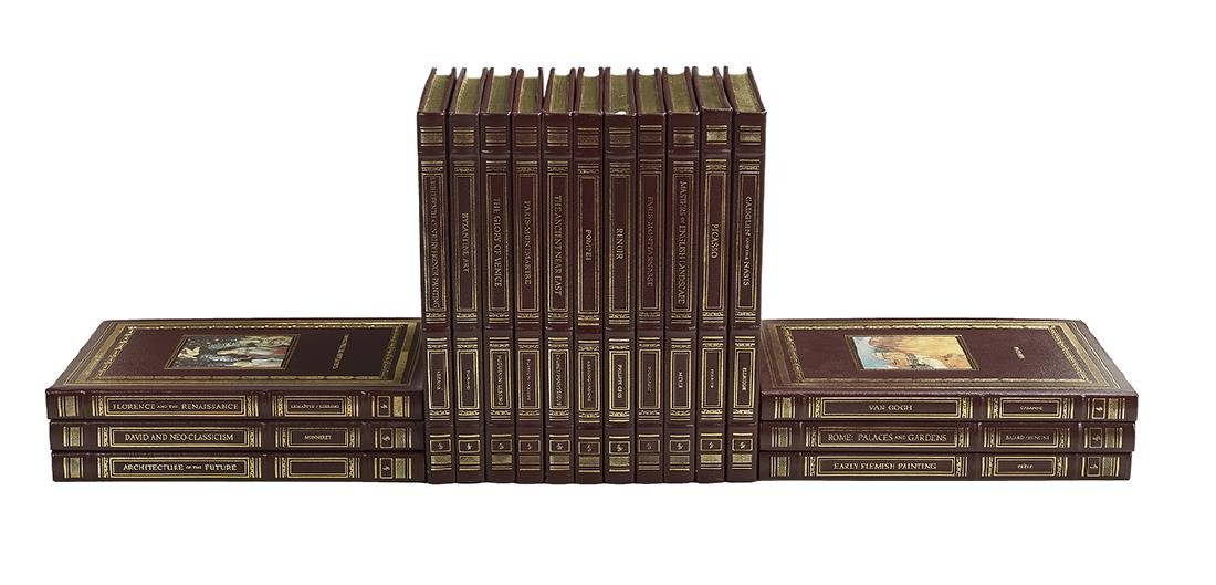 17 Leather-Bound Volumes on Art and Artists