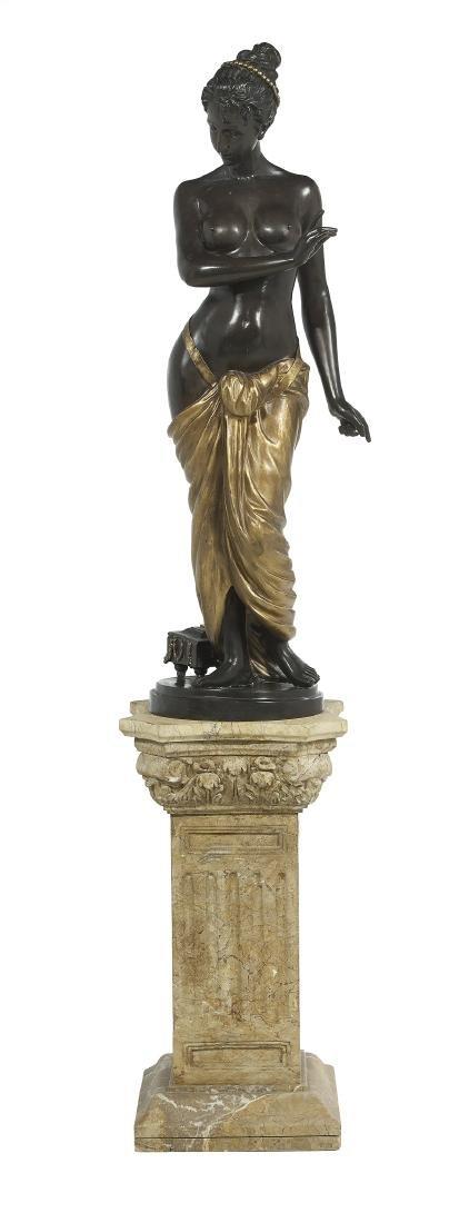 "Patinated and Gilt-Bronze Figure of ""Venus"""